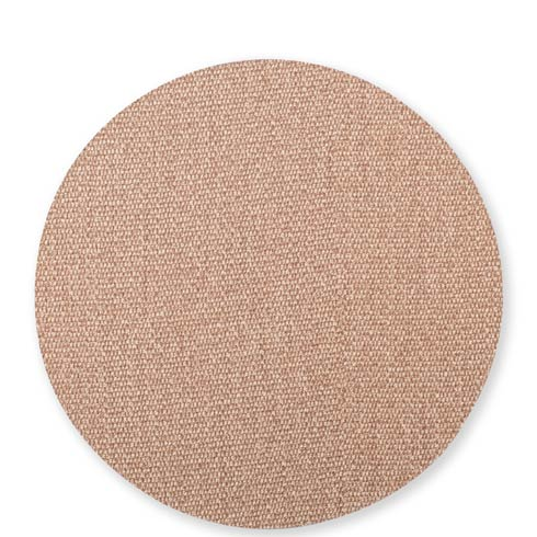 $23.00 Light Gray/Brown Round Placemat