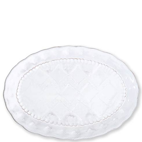 White Medium Oval Platter