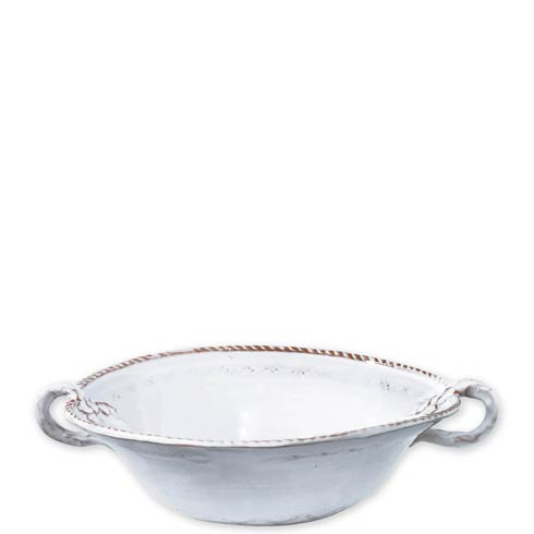White Medium Handled Serving Bowl