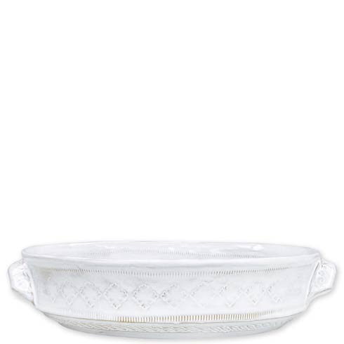 White Medium Round Baking Dish