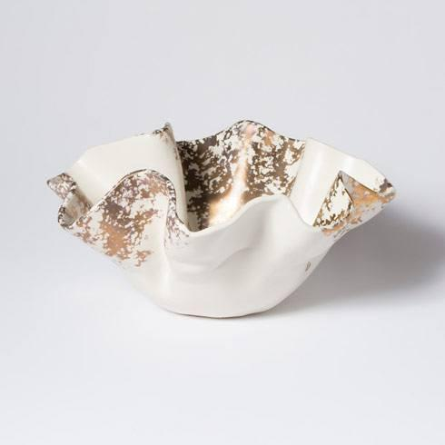 Vietri  Scattered Gold Matte Medium Bowl $192.00