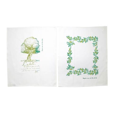 $38.00 Olive Tree Dish Towels - Set of 2