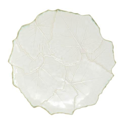 VIETRI  Foglia Stone White Cheese/Tart Plate $135.00