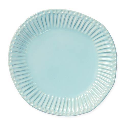 $46.00 Aqua Stripe Dinner Plate