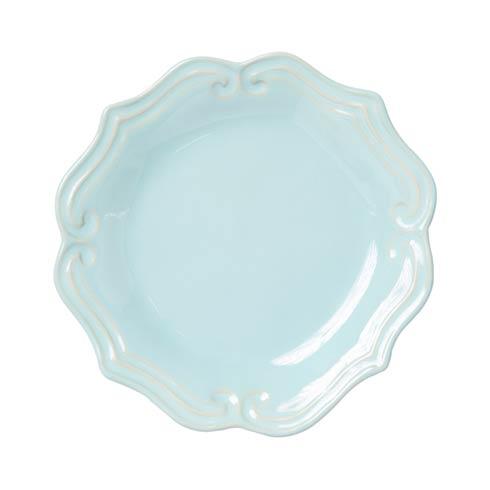 Vietri Incanto Stone Aqua Aqua Baroque Salad Plate $44.00