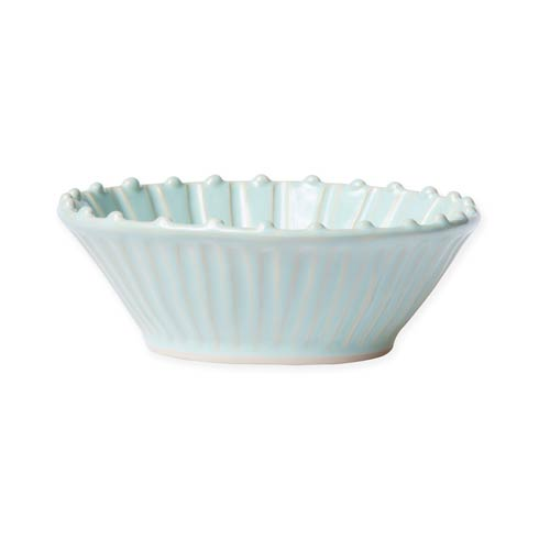 $44.00 Aqua Stripe Cereal Bowl