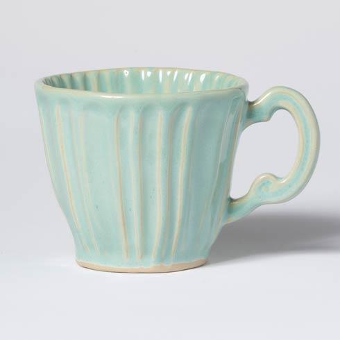 Vietri Incanto Stone Aqua Stripe Mug $46.00