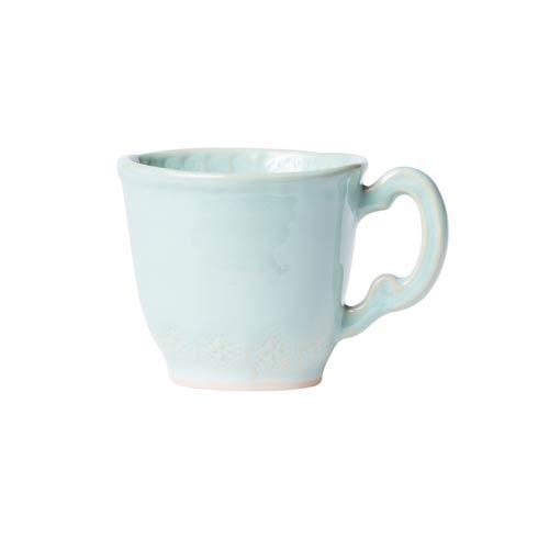 Vietri Incanto Stone Aqua Aqua Lace Mug $46.00