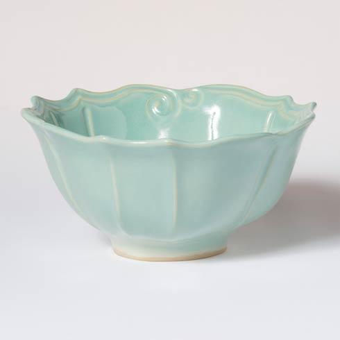 VIETRI Incanto Stone Aqua Baroque Medium Serving Bowl $127.00