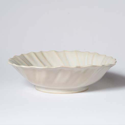 Vietri Incanto Stone Linen Ruffle Large Bowl $174.00