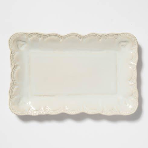 Vietri Incanto Stone Linen Lace Small Rectangular Platter $136.00