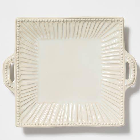 Vietri Incanto Stone Linen Stripe Square Handled Platter $169.00