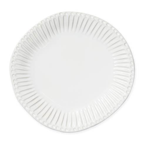 Vietri Incanto Stone White White Stripe Dinner Plate $46.00
