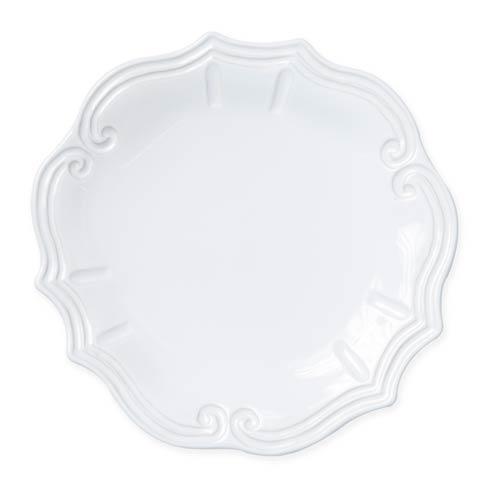 Vietri Incanto Stone White White Baroque Dinner Plate $46.00