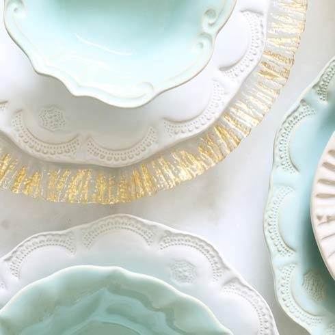 Vietri Incanto Stone White White Lace Salad Plate $44.00