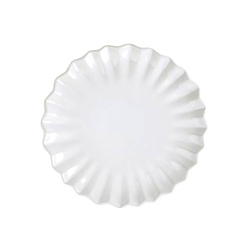VIETRI Incanto Stone White Pleated Salad Plate $48.00