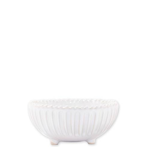 Vietri Incanto Stone White Stripe Footed Bowl $36.00