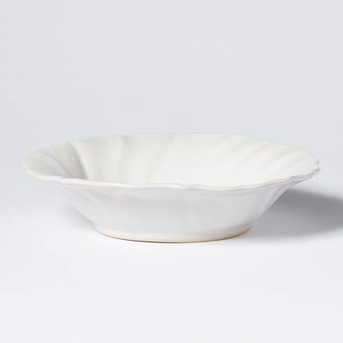 Vietri Incanto Stone White Ruffle Pasta Bowl $46.00