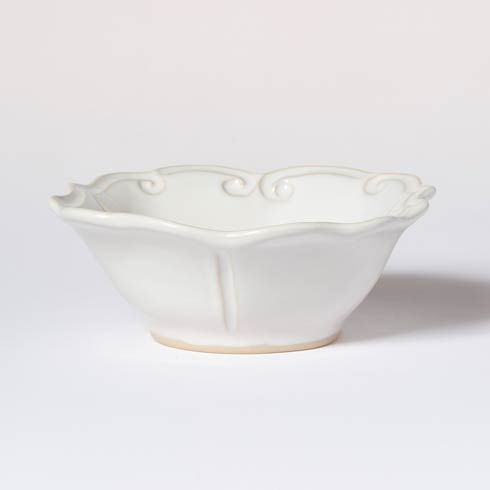 VIETRI Incanto Stone White Baroque Cereal Bowl $44.00