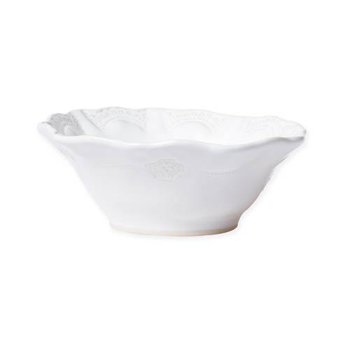 Vietri Incanto Stone White White Lace Cereal Bowl $44.00