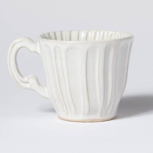 Vietri Incanto Stone White Stripe Mug $46.00