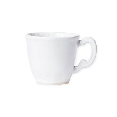Vietri Incanto Stone White White Lace Mug $46.00