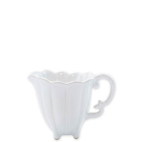 VIETRI Incanto Stone White Scallop Creamer $74.00