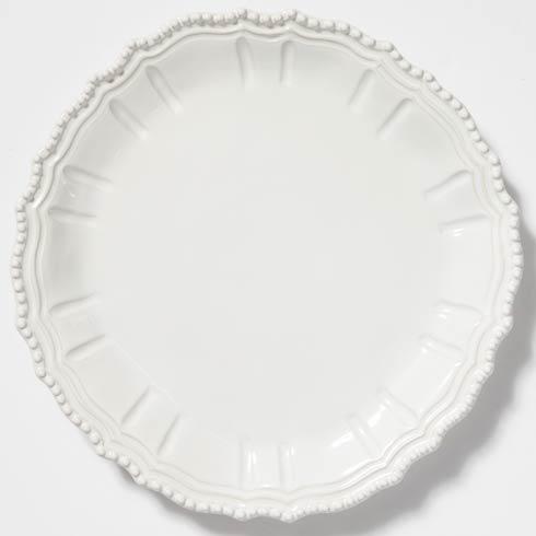 VIETRI Incanto Stone White Baroque Round Platter $170.00