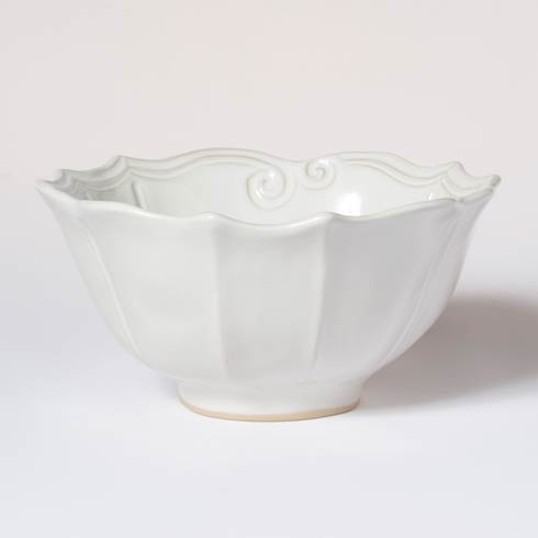 Vietri Incanto Stone White Baroque Medium Serving Bowl $112.00