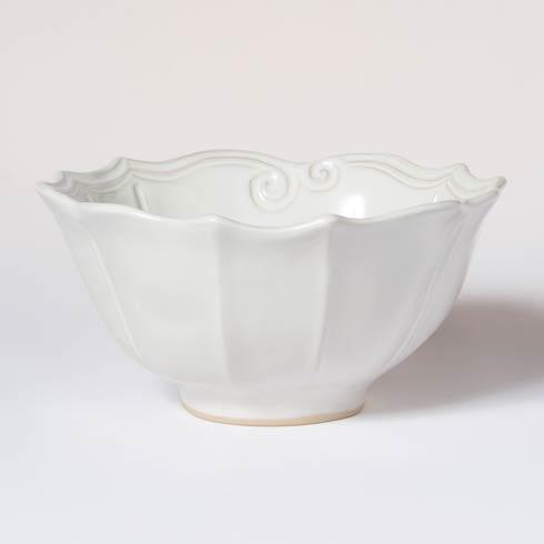 VIETRI Incanto Stone White Baroque Medium Serving Bowl $127.00