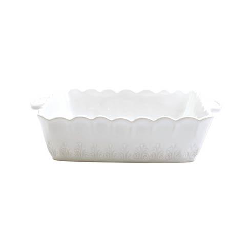 VIETRI Incanto Stone White Lace Square Baker $133.00