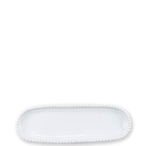 VIETRI Incanto Stone White Stripe Small Oval Tray $51.00