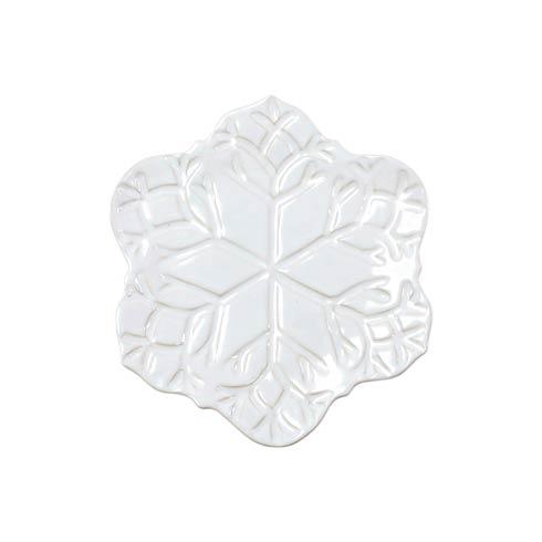 $49.00 Winterland White Snowflake Salad Plate
