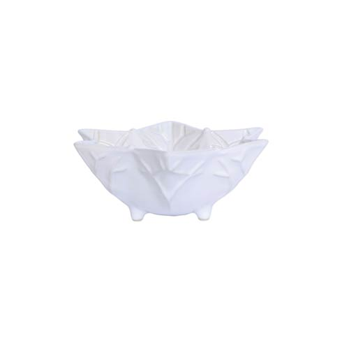 $53.00 Winterland White Snowflake Footed Bowl