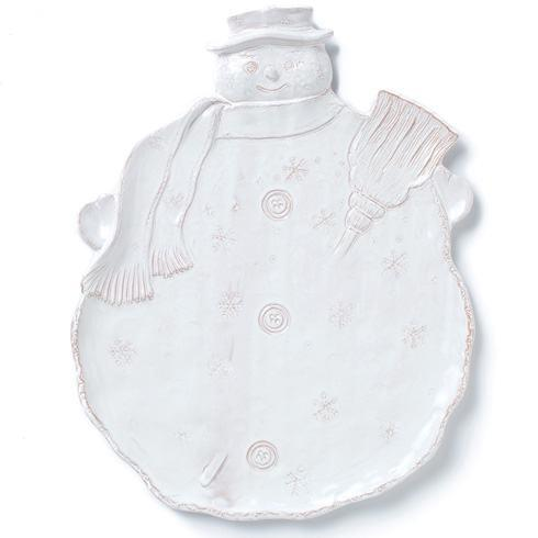 Vietri Bellezza Holiday Snowman Platter $108.00