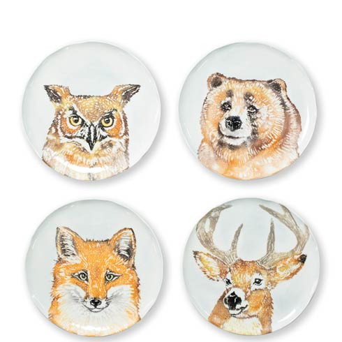 $176.00 Into the Woods Assorted Salad Plates - Set of 4