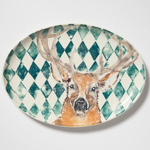$328.00 Into The Woods Deer Large Oval Platter