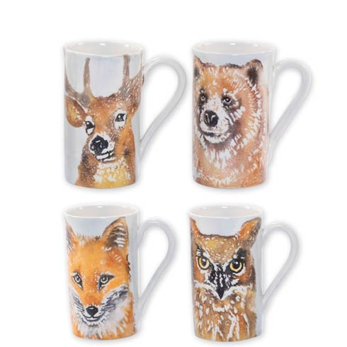 $168.00 Into the Woods Assorted Mugs - Set of 4