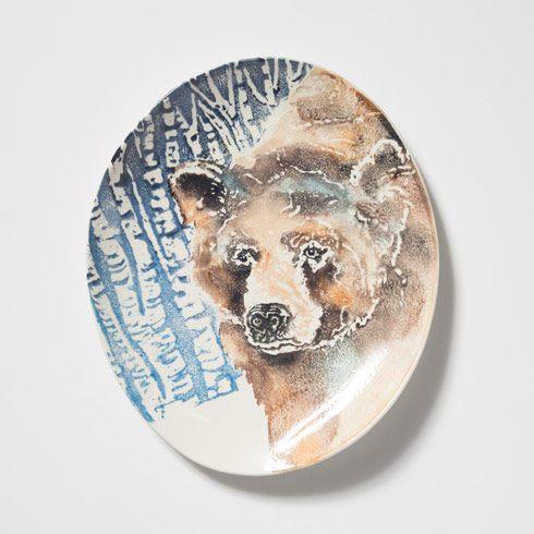 VIETRI  Into the Woods Bear Oval Platter $169.00
