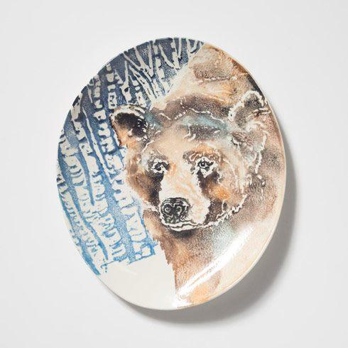VIETRI  Into the Woods Bear Oval Platter $169.00