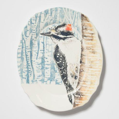 Woodpecker Oval Platter