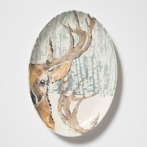 Vietri  Into the Woods Deer Oval Platter $188.00