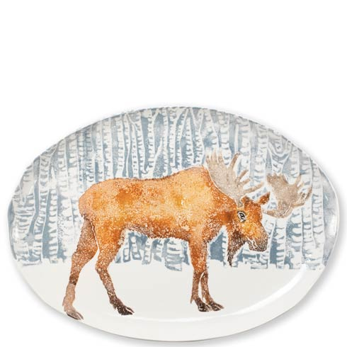 $330.00 Into the Woods Moose Oval Platter