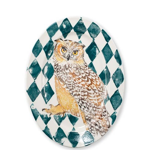 $190.00 Owl Oval Platter