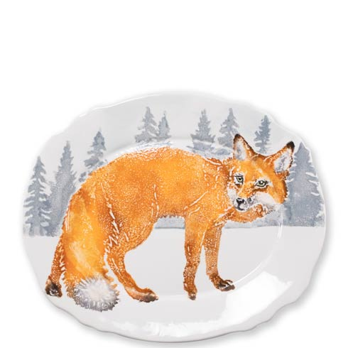 $169.00 Into the Woods Fox Oval Platter