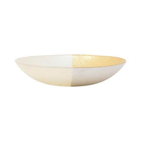 White & Gold Small Bowl