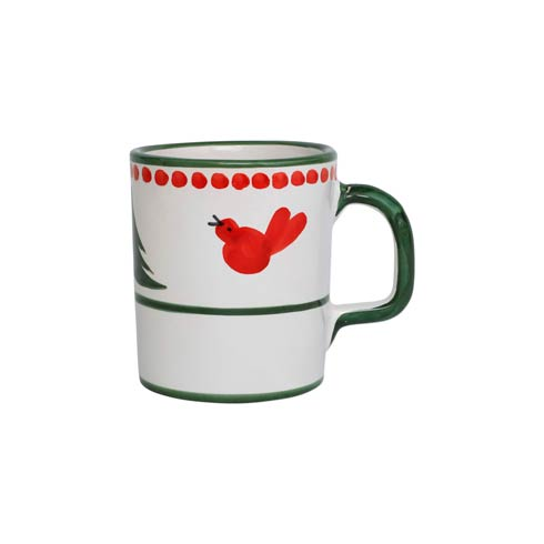 VIETRI  Uccello Rosso Mug $40.00