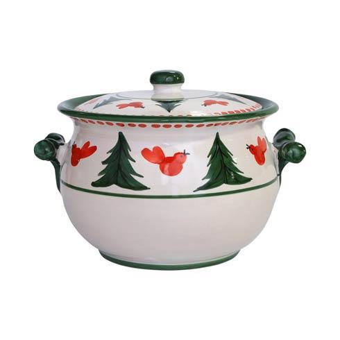 VIETRI  Uccello Rosso Biscotti Jar $123.00