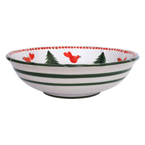 VIETRI  Uccello Rosso Large Serving Bowl $181.00