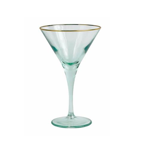 Viva by Vietri  Viva Rainbow Green Martini Glass $15.00